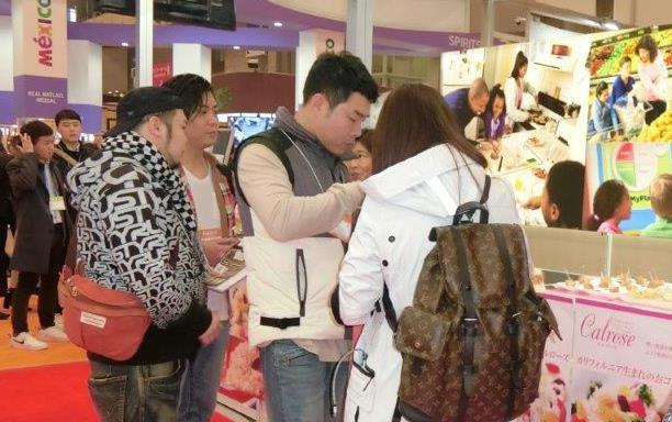 IP-2019 Foodex Japan, taste test at booth-190308