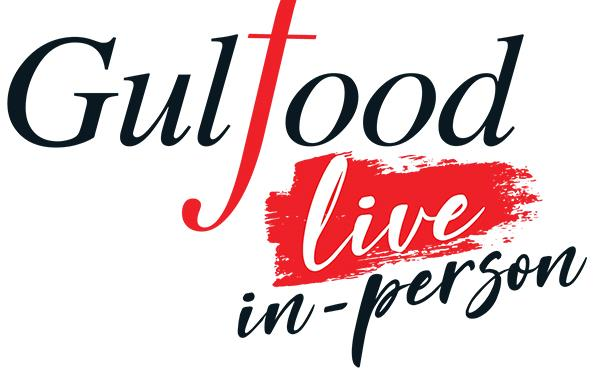 2021 Gulfood logo, live in-person