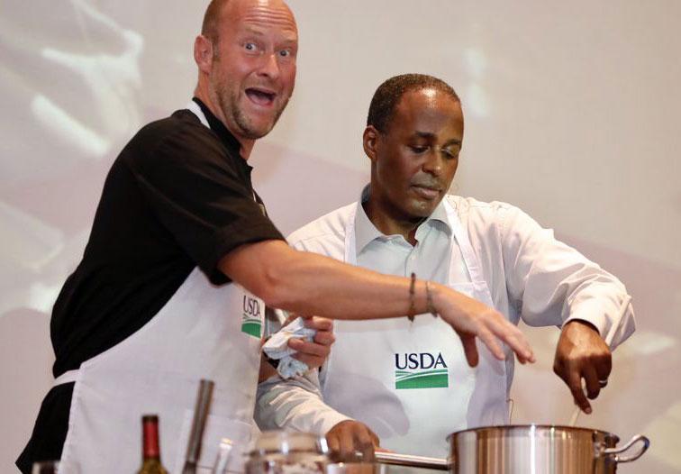 Chef Ryan Hughes and Costa Rica Amb. Stafford Haney