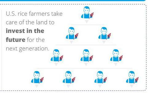 From-Our-Families-to-Yours-graphic shows 96% of US rice farms are family owned