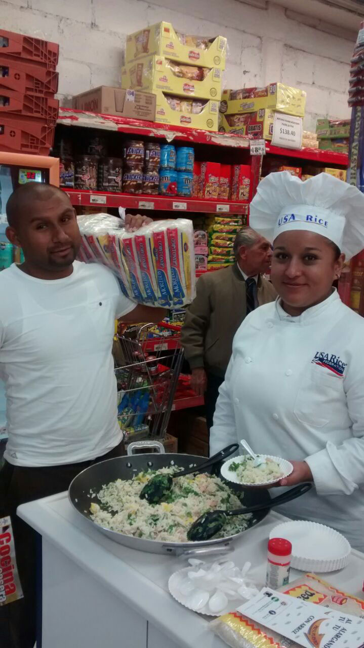 USA Rice promotion at wholesaler in Mexico