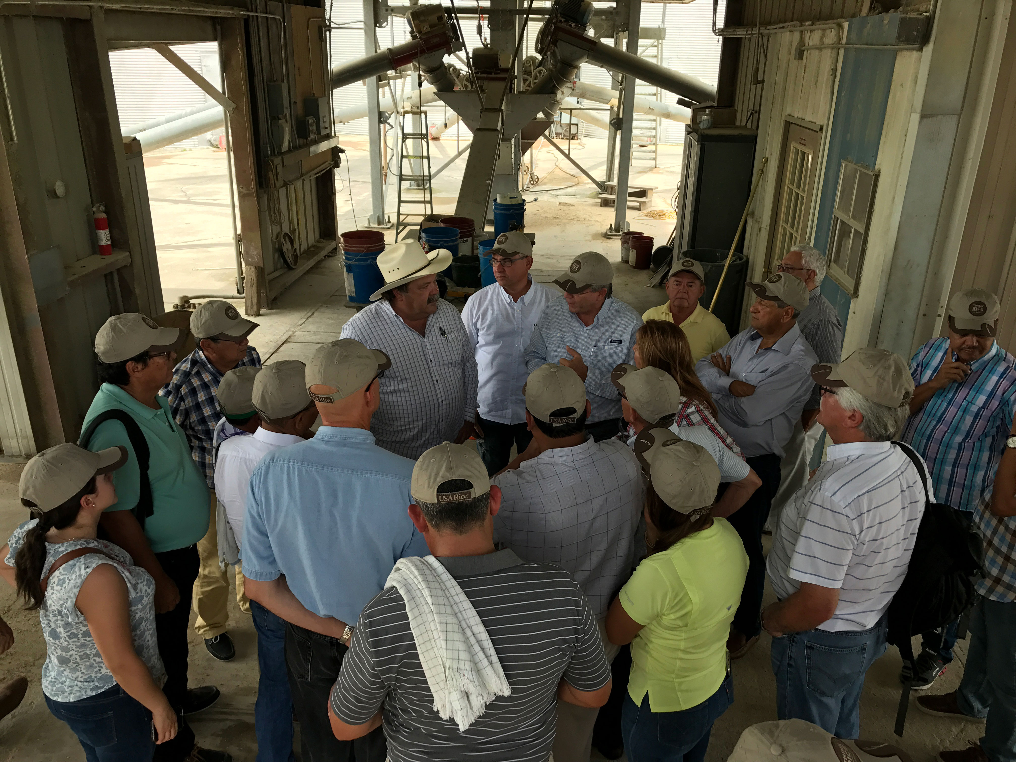 Colombia rice farmers tour a U.S. mill:  trading grain and with best practices