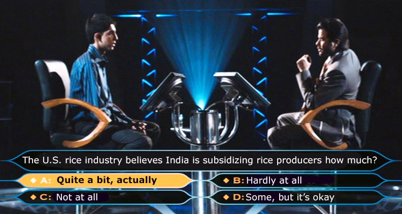 Who wants to be a millionaire? game show photo from Slumdog Millionaire movie