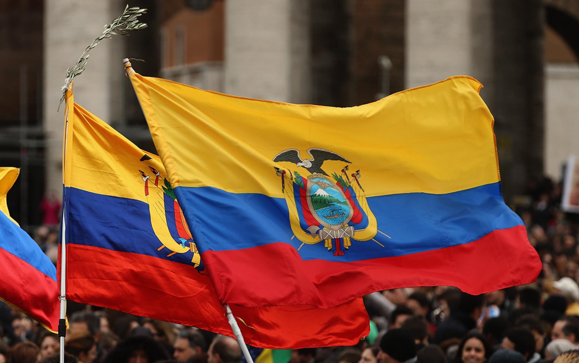 Ecuador Flags, Dan Kitwood photo
