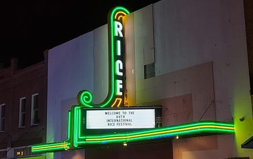 2021 Rice Festival, Rice Theatre in neon