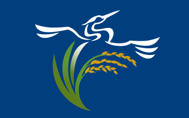 California Rice Commission logo w/blue background