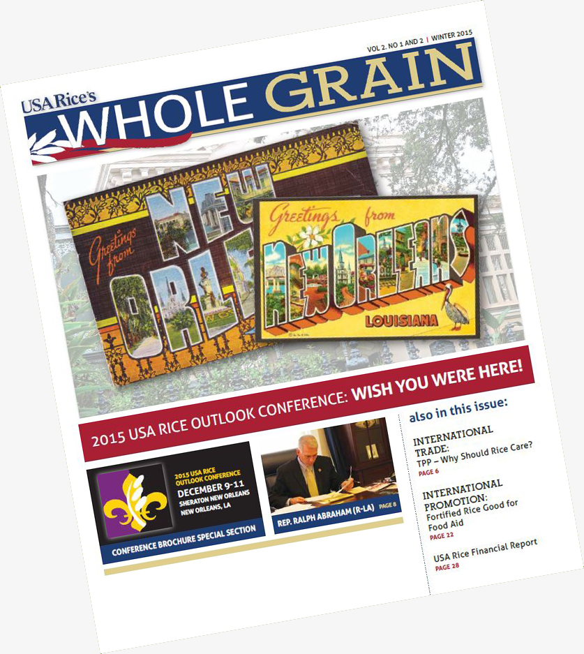 COMM-2015 USA Rice Outlook Issue of Whole Grain is On the Presses-151125