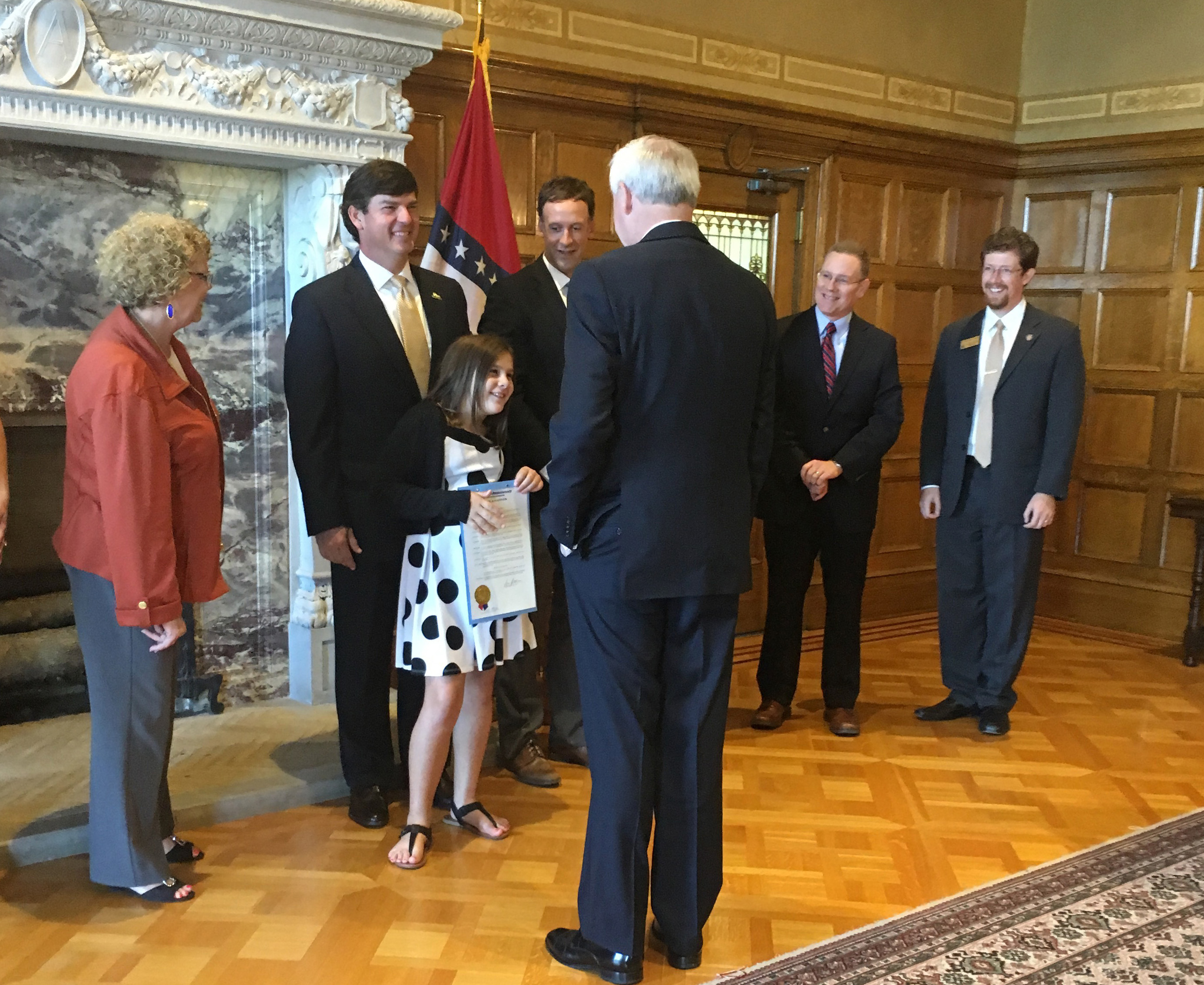 National Rice Month Proclamation signing with Arkansas Governor Asa Hutchinson