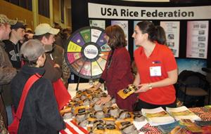 Crowd around the USA Rice booth at Gin-Show-2015