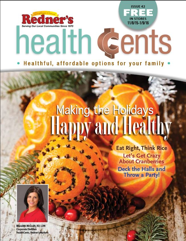 Redner magazine HealthCents for the Holidays