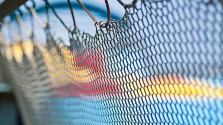 Close-up photo of netting