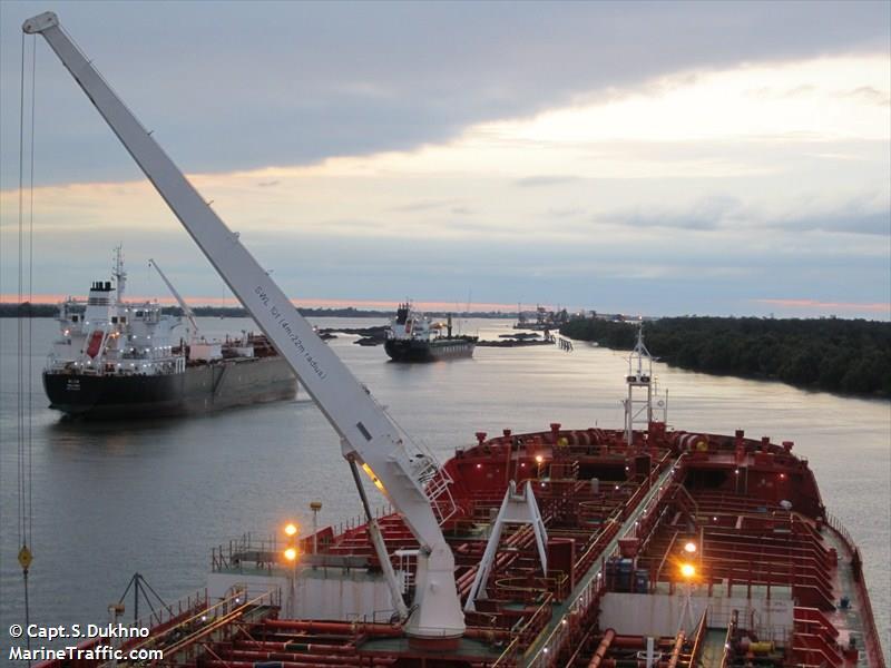 Grain Ships on the River NOLA