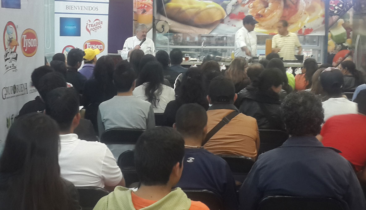 Chef Bernardo cooks for a packed house