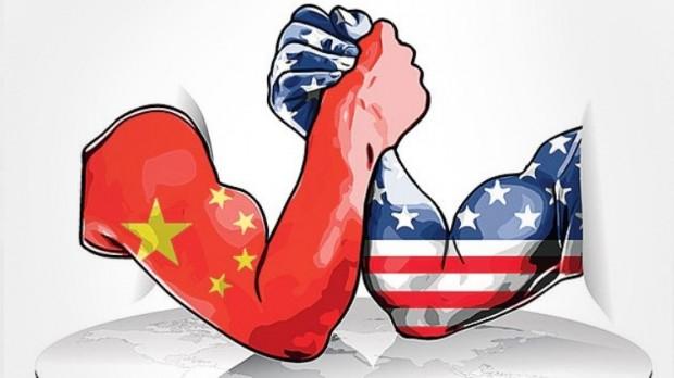 US vs China arm wrestling